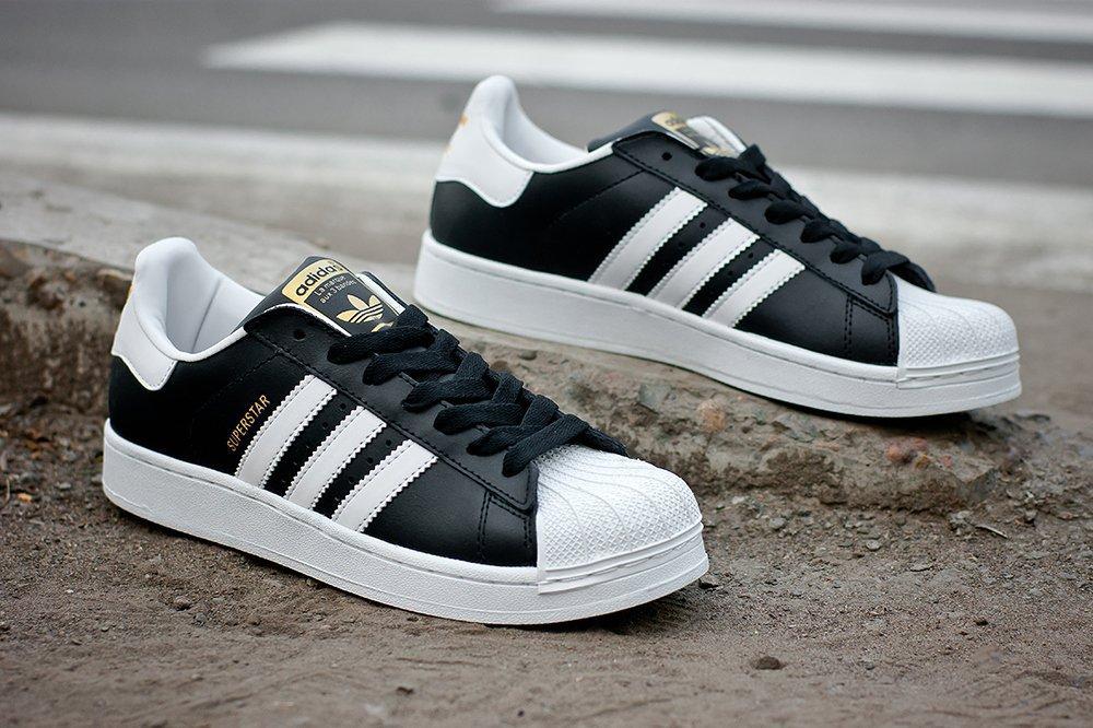 Купить мужские кроссовки Adidas Superstar 80 s DLX Black   White ... 10a4804ffb403