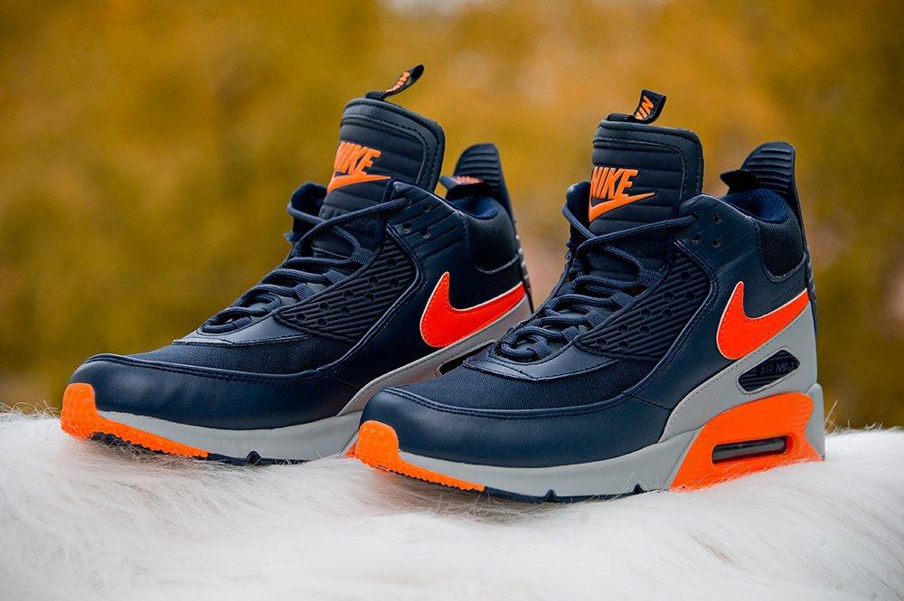 0a3cd729 Купить мужские кроссовки Nike Air Max 90 Sneakerboot Dark Blue ...