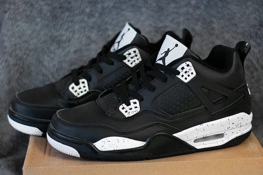 42a39f1887cb Купить мужские кроссовки Nike Air Jordan 4 Retro «Tech Grey» в ...