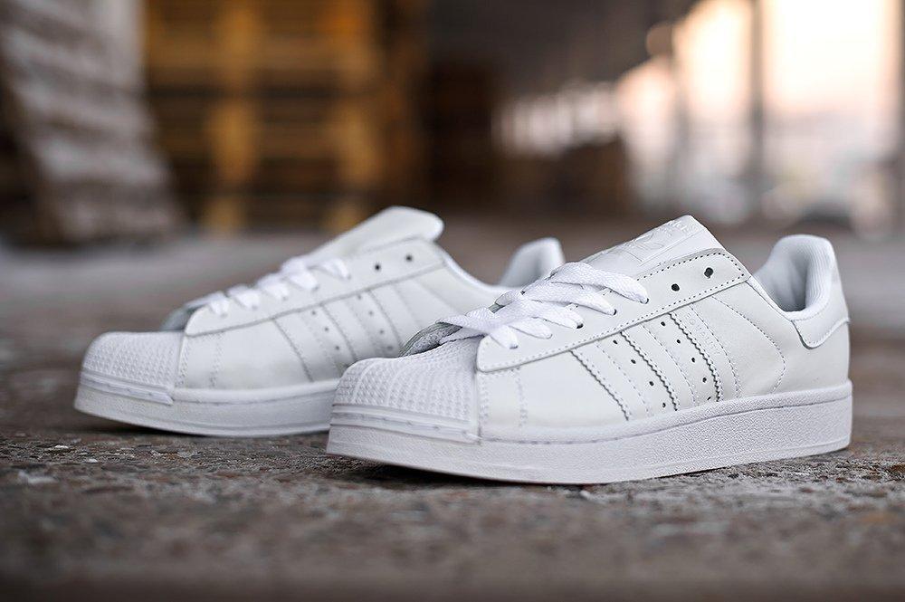 Купить мужские кроссовки Adidas Superstar 80 s All White (white ... 742c88f1c33e3