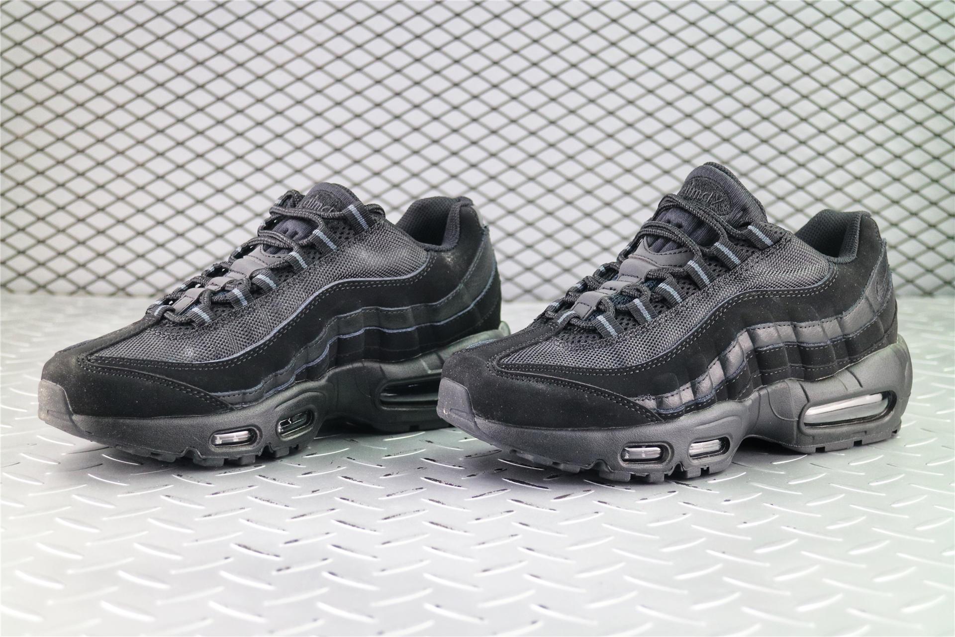 Купить мужские кроссовки Nike Air Max 95 Premium Triple Black в ... b67005ae02f