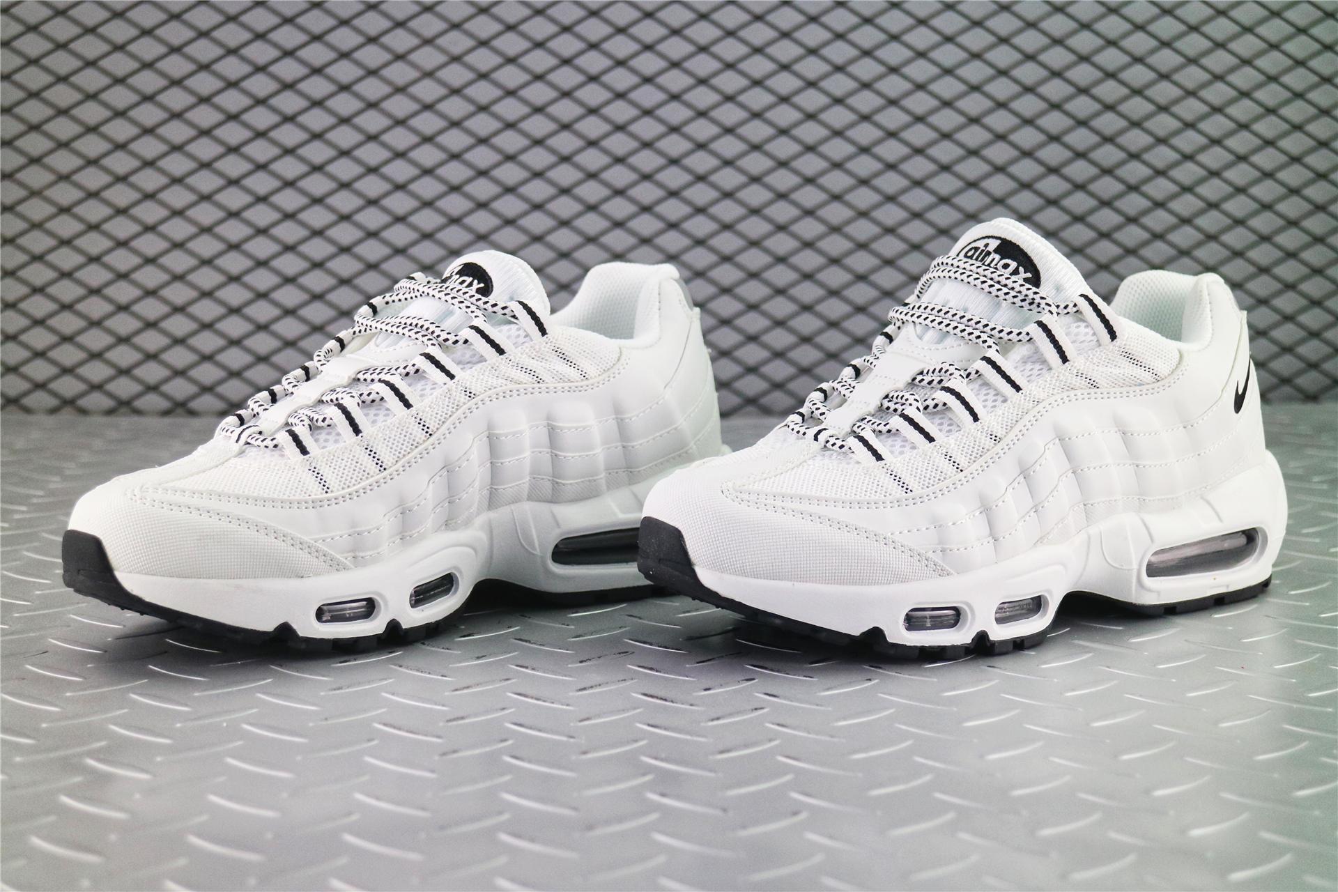 52171ddc87c1 Купить мужские кроссовки Nike Air Max 95 White   Black   Black в ...