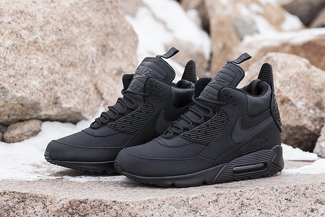 4b30c8b0 Кроссовки мужские. Nike Air Max 90 Sneakerboot Triple Black (артикул ...