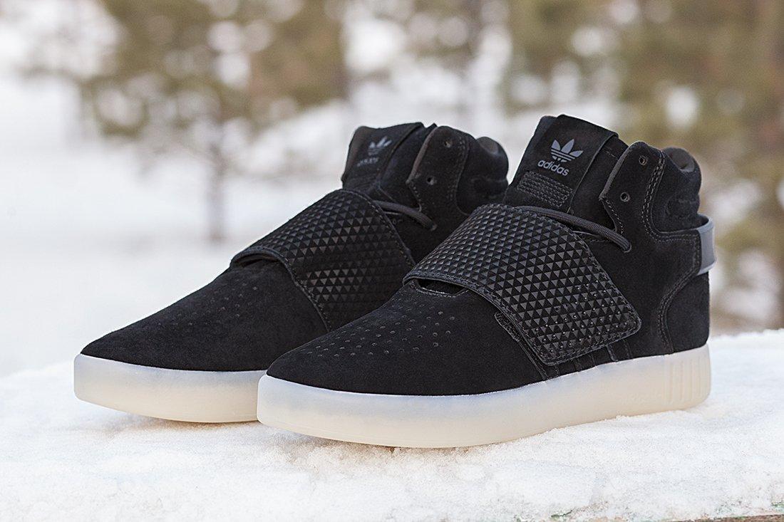 Купить мужские кроссовки Adidas Tubular Invader Strap Black   Ice в ... 6283d6071