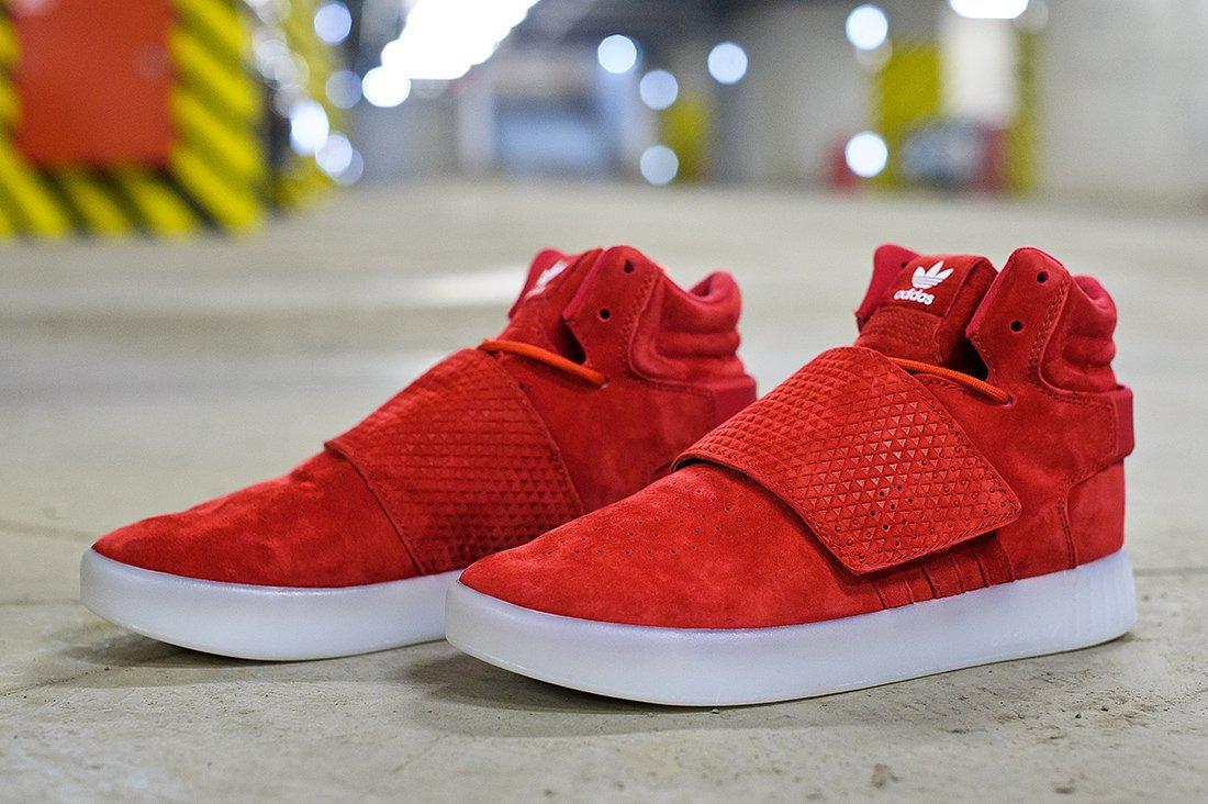 the best attitude e9a90 ec9f7 мужские кроссовки Adidas Tubular Invader Strap Red / White (артикул 6961)