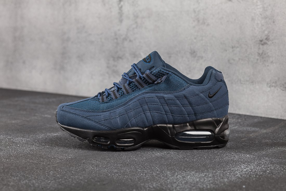 b6c254e3a Купить мужские кроссовки Nike Air Max 95 Navy Blue / Black (артикул ...