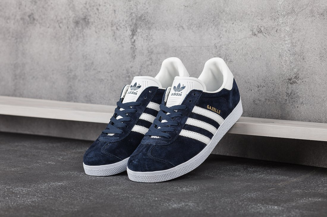 9b43f89eecfa Кроссовки мужские Adidas Gazelle OG Dark Blue   Vintage White   Gold  Metallic