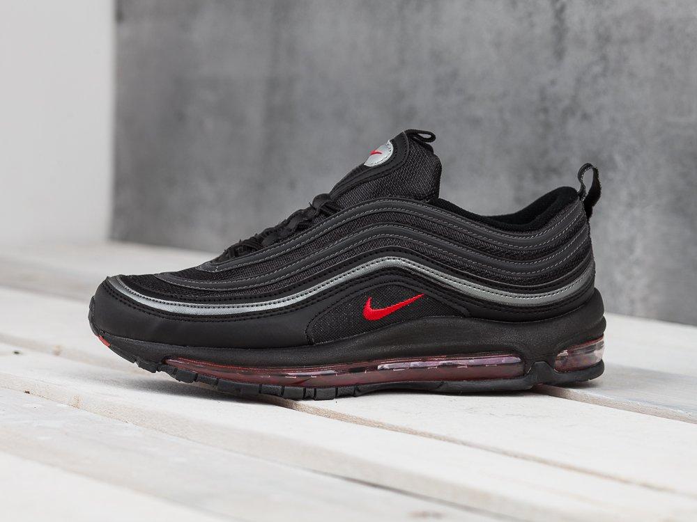 Купить мужские кроссовки Nike Air Max 97 Black Red Silver в интернет ... cbe98bd660a
