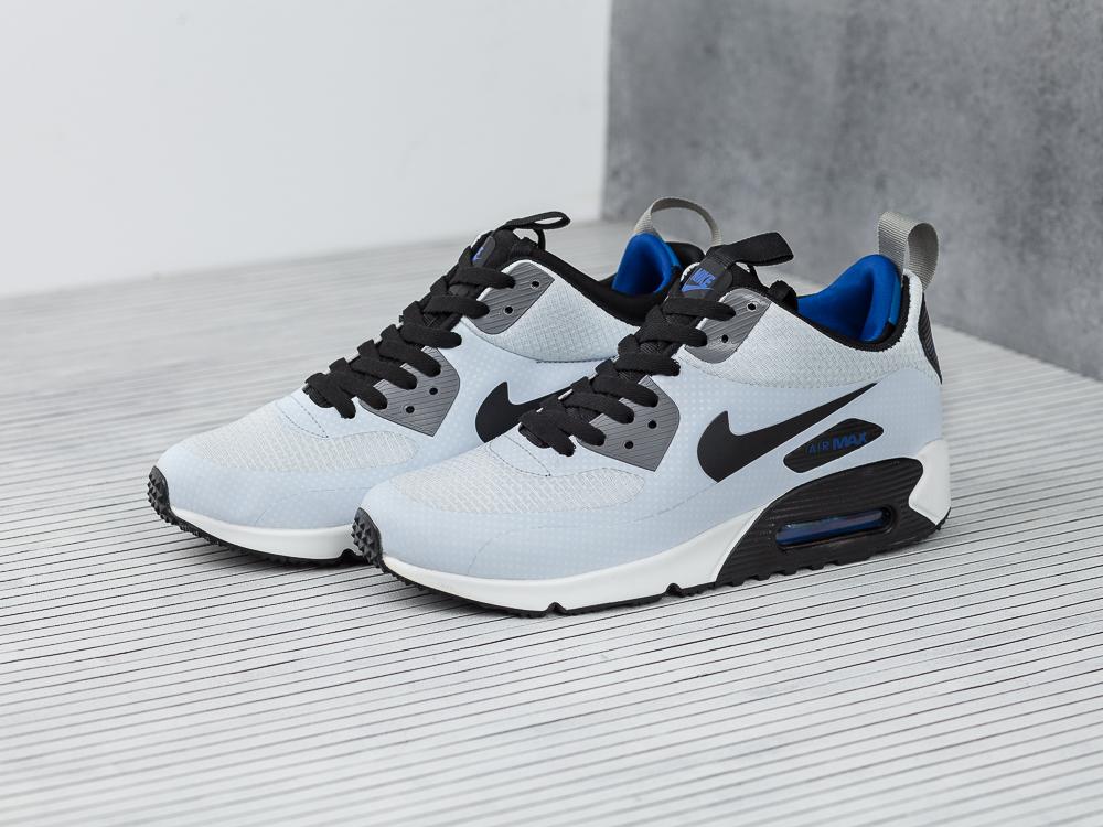 Кроссовки мужские Nike Air Max 90 Mid Winter Print Night Silver   Black    Gym Royal fdc342353d9
