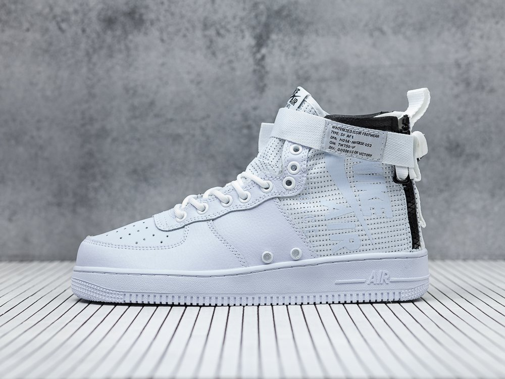 167bb0a053c мужские кроссовки Nike SF Air Force 1 Mid Ivory Triple White (артикул 8268)