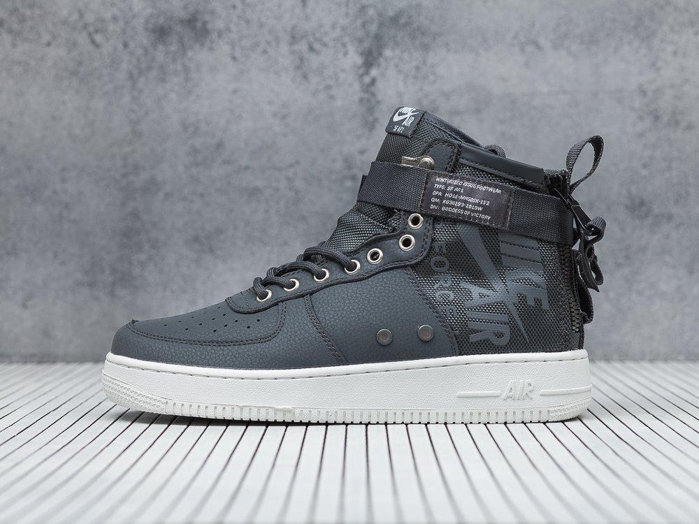 8e0f74ec мужские кроссовки Nike SF Air Force 1 Mid Dark Grey / Dark Grey / Light Bone
