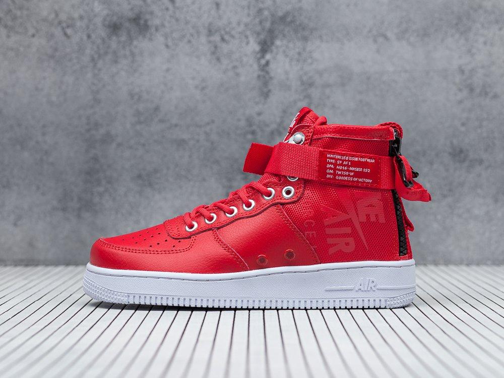 fb4304aa женские кроссовки Nike SF Air Force 1 Mid WMNS Red / White / Black (артикул