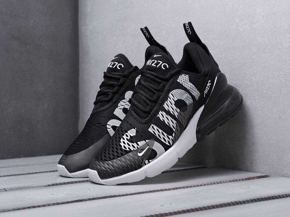 2550ab29 мужские кроссовки Nike Air Max 270 X Supreme Black / White (артикул 8751)