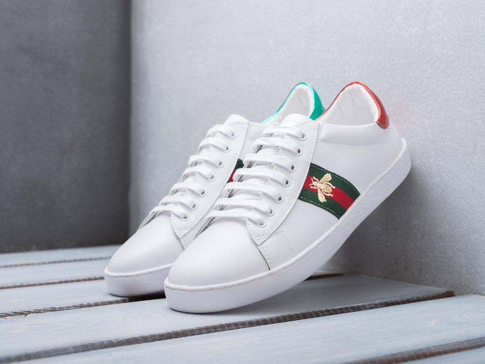 Купить мужские кроссовки Gucci Ace Embroidered Low-top White Bee в ... 616c755c4de